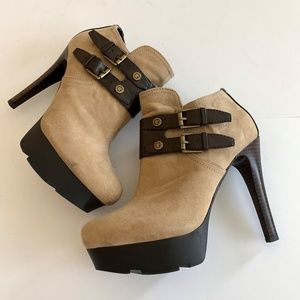 GUESS Brown Suede Booties Size 7